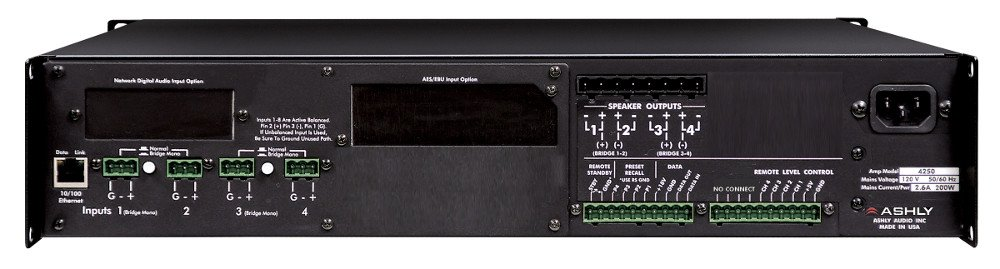 Ashly ne4250 4 Channel 250W @ 4 Ohms Power Amplifier NE4250