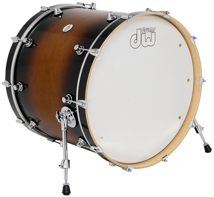 "18"" x 22"" Design Series Bass Drum in Tobacco Burst Finish"