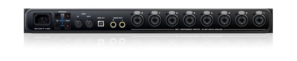 motu 8pre usb 16x12 usb 2 0 audio interface with 8 mic preamps and standalone a d full compass. Black Bedroom Furniture Sets. Home Design Ideas