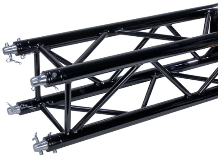 "4' Black Powder Coat 12"" Square Truss Segment"