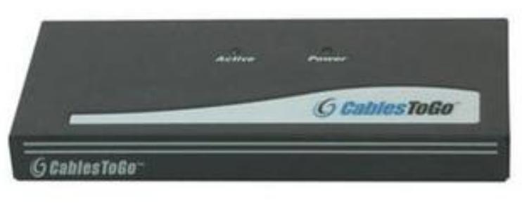 4-Port UXGA Monitor Splitter-Extender with Male Input