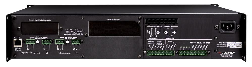 Ashly ne4250.70 4-Channel 250W 70V Power Amplifier NE4250.70