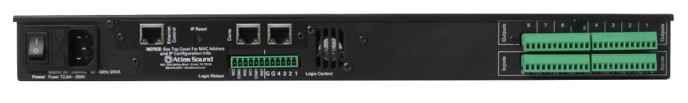 8 Input x 8 Output DSP Audio Processor