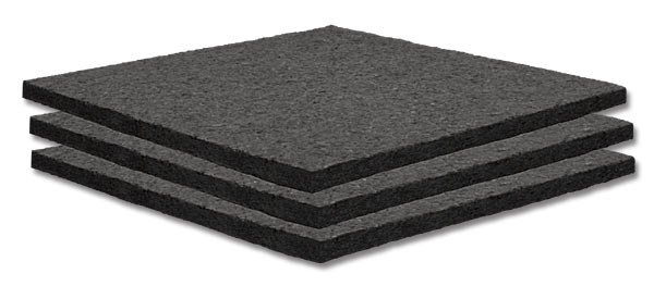 """24-Pack of 2' x 2' x 1"""" SonoFiber Acoustic Panels in Charcoal"""