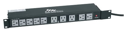 Middle Atlantic Products PD-1820R-RN  18-Outlet 20A Power Strip PD-1820R-RN