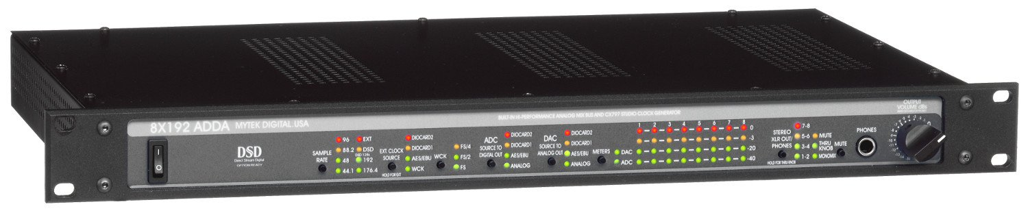 Mytek Digital 8X192ADDA 8-Channel 192kHz/DSD Hi-Performance A/D and D/A Converter 8X192ADDA