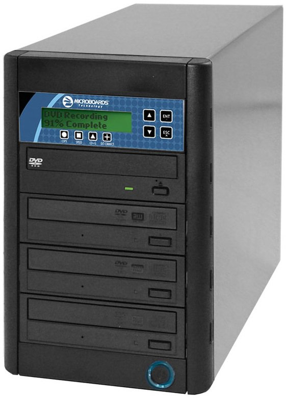 3-Bay CopyWriter Pro CD/DVD Tower Duplicator with 500GB Built-In HDD