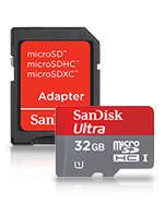 32GB microSDHC Memory Card