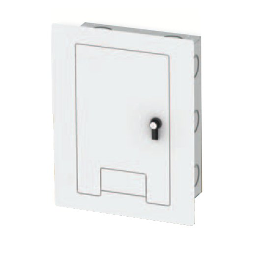 Locking Cover in White with Cable Exit for WB-X1 Back Boxes