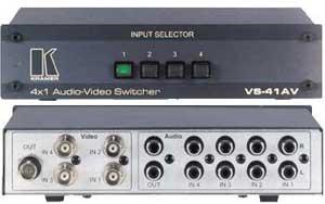 4x1 Video Audio Switcher