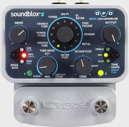 SoundBlox2 OFD Bass microModeler Fuzz Pedal