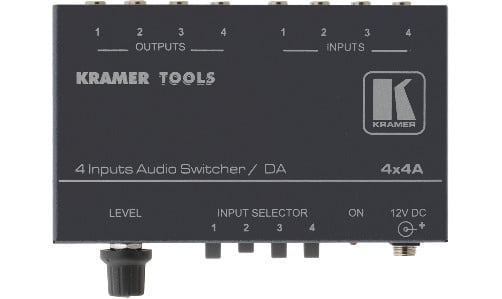 4x1 Audio Switcher and 1:4 Distribution Amplifier