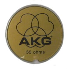 """Gold """"AKG"""" Plate For K240"""