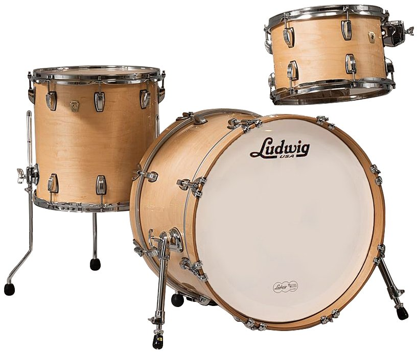 "Classic Maple Downbeat 3 Piece Shell Pack in Natural Finish: 12"", 14"" Toms, 14""x20"" Bass Drum"