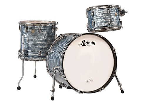 "Classic Maple Downbeat 3 Piece Shell Pack in Sky Blue Pearl: 12"", 14"" Toms, 14""x20"" Bass Drum"