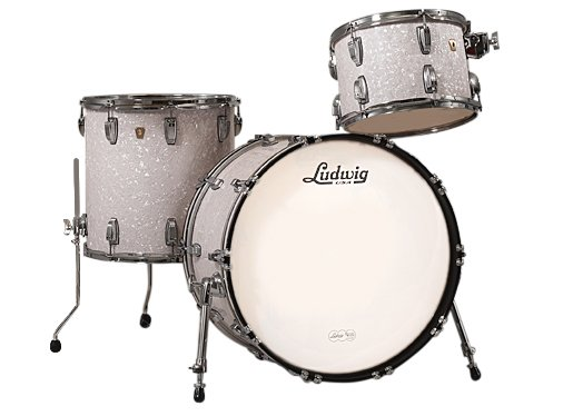 "Classic Maple Fab 22 3 Piece Shell Pack in White Marine Pearl Finish: 13"", 16"" Toms, 14""x22"" Bass Drum"