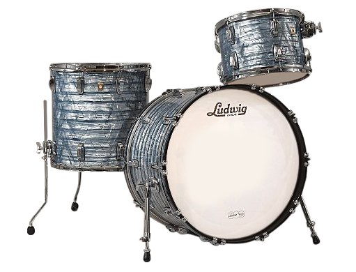 "Classic Maple Fab 22 3 Piece Shell Pack in Sky Blue Pearl: 13"", 16"" Toms, 14""x22"" Bass Drum"