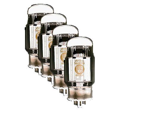 Quartet of Matched 6550 Power Vacuum Tubes