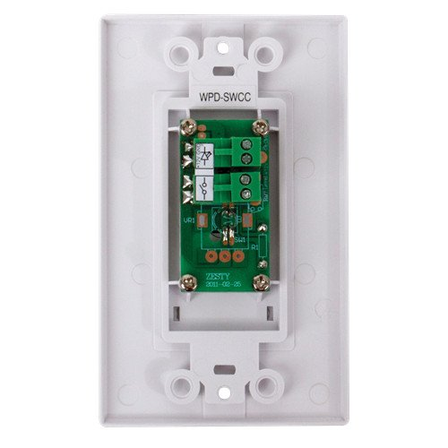 Wall Plate Push Button Switch with Hard Contact Closure