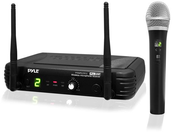 Pyle Pro PDWM1902 Premier Series UHF Wireless Handheld Microphone System PDWM1902
