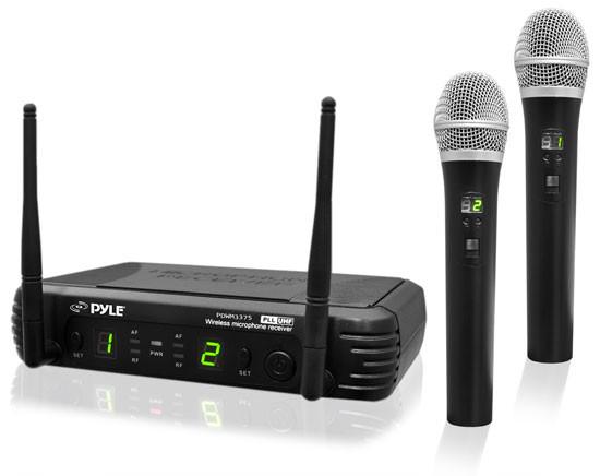 Premier Series 2-Channel UHF Wireless Handheld Microphone System