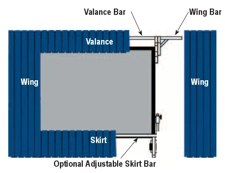 """10'6"""" x 14' Fast-Fold Ultra Velour Drapery Kit in Black for Deluxe Frames with Skirt Bar"""