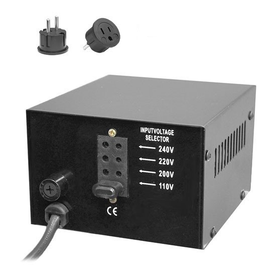 100W Voltage Converter Transformer with USB Charging Port