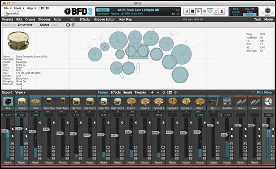 FXpansion BFD 3.0 Virtual Acoustic Drum Software [BOXED VERSION] BFD-3.0-BOX