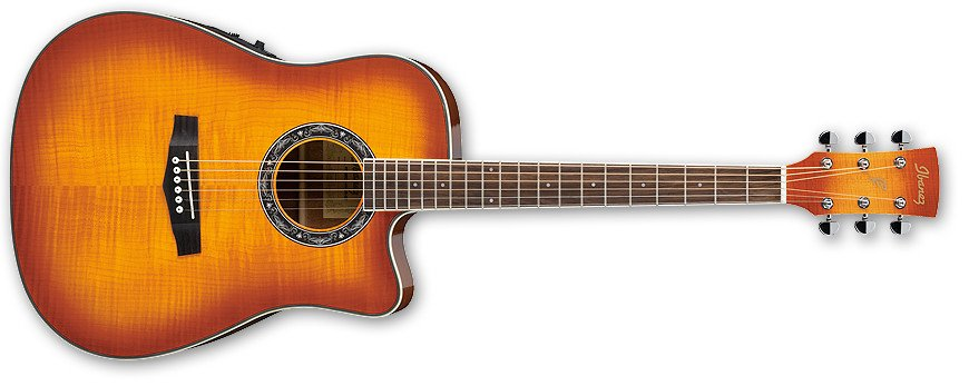 PF Series Cutaway Dreadnought Acoustic/Electric Guitar with SST Preamp
