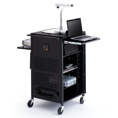 "TCPUL23 Presenter's Assistant for Learning (PAL) Cart with 12-Outlet Electric Unit and 4"" Rubber Casters"