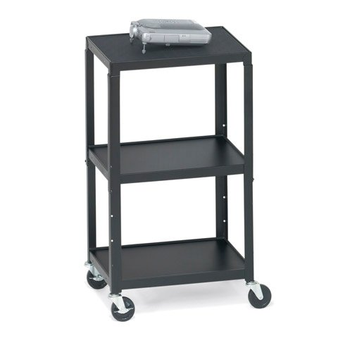Height-Adjustable AV Cart with 6-Outlet Electrical Unit