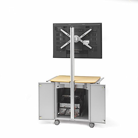 "Flat Panel Cabinet Cart for 32""-50"" Flat Panel Monitors"