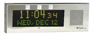 Large Surface-Mount IP Clock with RWB Flashers