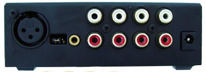 Mini Mix 2 4-Channel Mixer with XLR Micrphone Input and 3x RCA Inputs