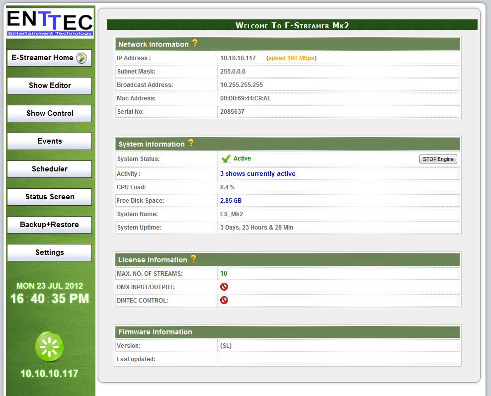 E-Streamer Mk 2 - 8-Universe License