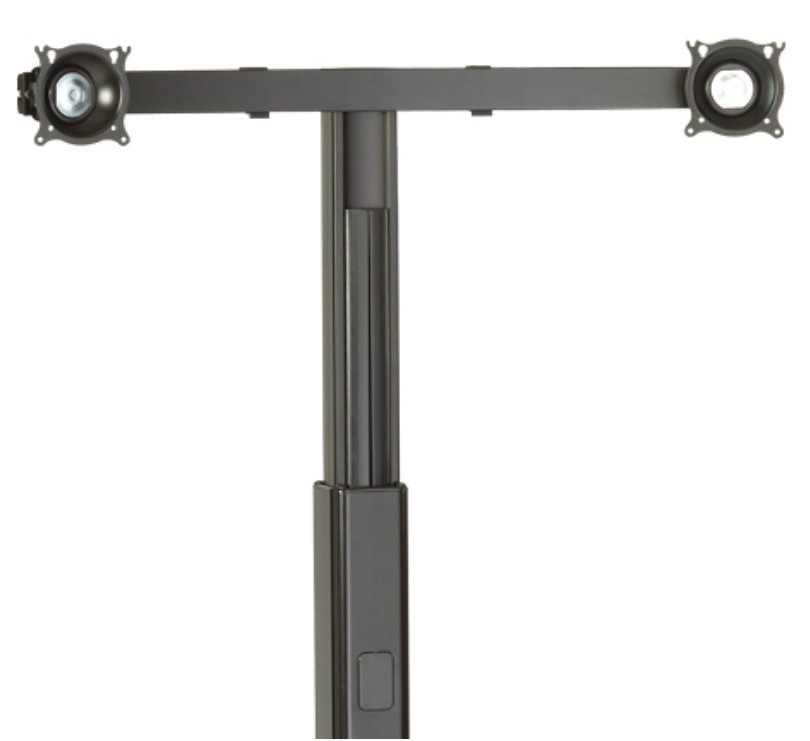 Widescreen Dual Monitor Cart-Stand Accessory