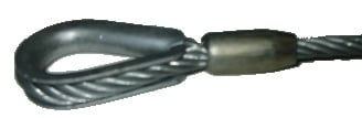 """3/8"""" x 1 ft Silver Wire Rope Sling"""