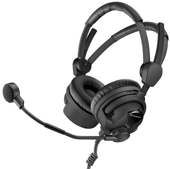 Hypercardioid Broadcast Headset with Unterminated Ends
