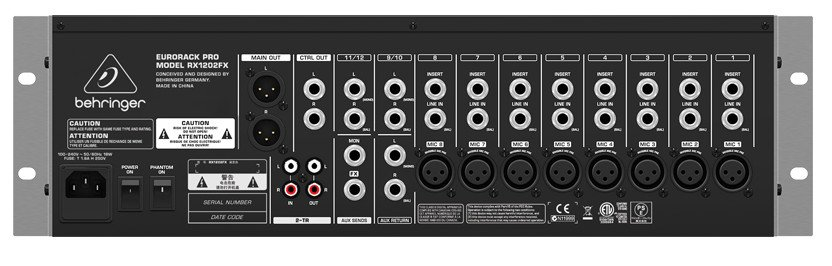 12-Input Eurorack Pro Mic/Line Rack Mixer with XENYX Mic Preamps & Multi-FX Processor