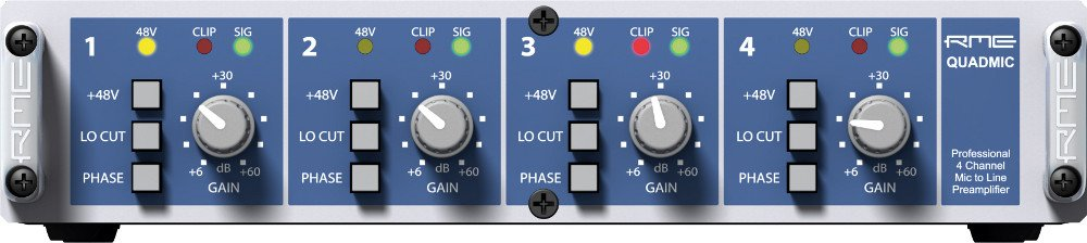 4-Channel XLR Microphone Preamp