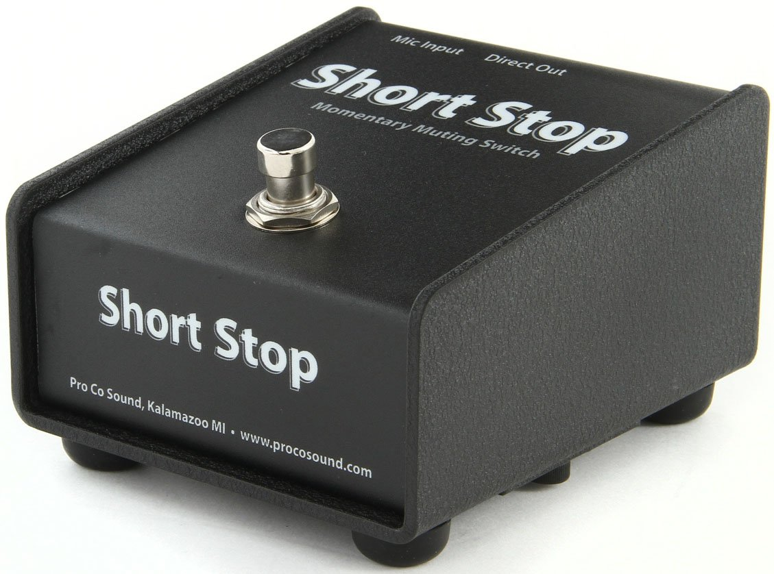 Short Stop Momentary  Microphone Muting Footswitch