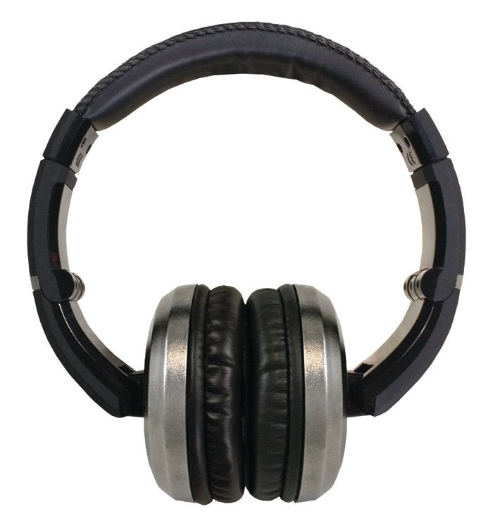 Stereo Headphones with Detachable Cable in Chrome