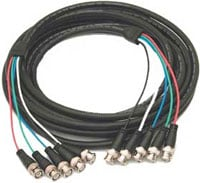 Molded 5 BNC-BNC Cable, 100 ft.