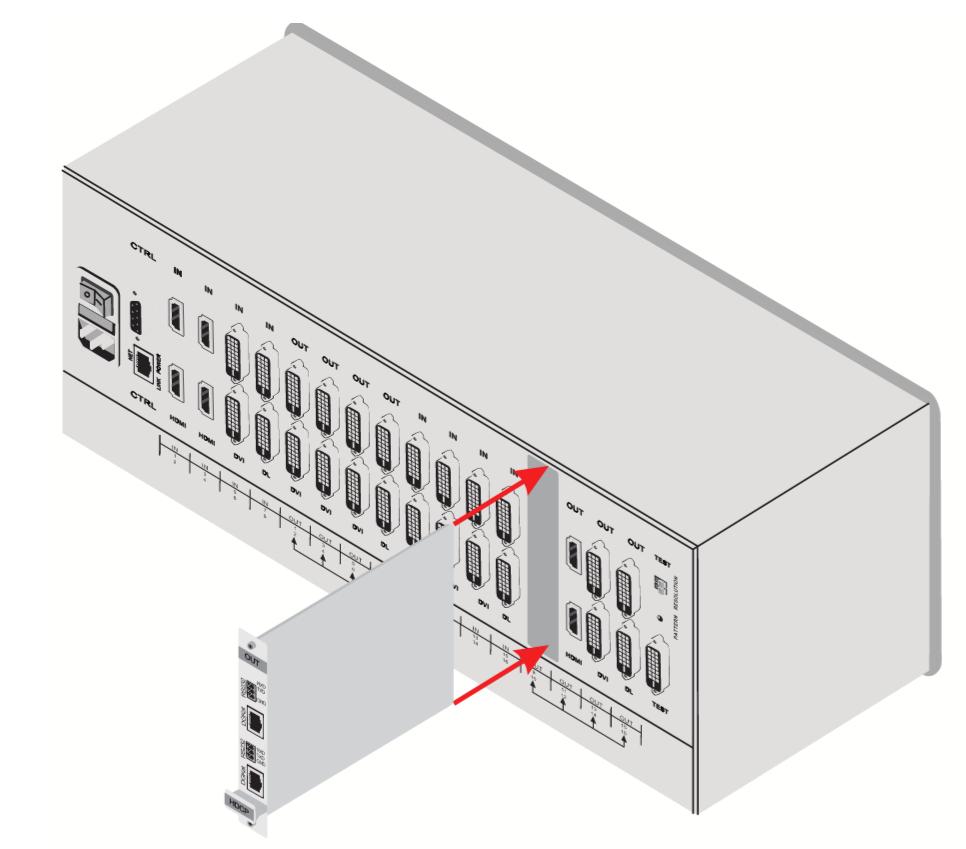 2-Input HDMI & RS-232 over DGKat Card (F16)