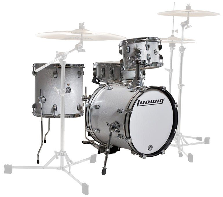 """4 Piece Shell Pack in White: 10"""", 13"""" Toms, 14""""x16"""" Bass Drum, 5x14"""" Snare Drum"""