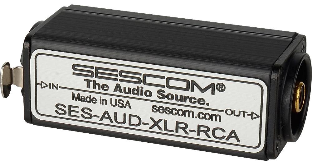 XLR Female Balanced to RCA Unbalanced Audio Converter