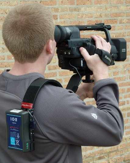 CameraRibbon Camera Shoulder Support with V-Mount IDX Battery Mount