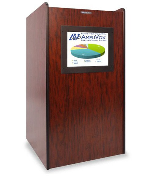 AmpliVox SN3265 Visionary Lectern with LED Screen SN3265