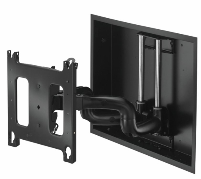 "22"" Large Low-Profile In-Wall Swing Arm Mount"