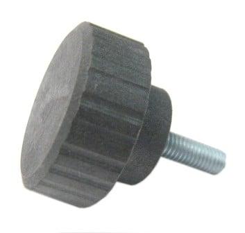"""Black Knob With 10-32X5/8"""" Screw"""